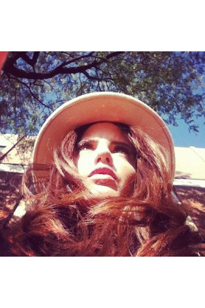 tan fedora Aldo hat