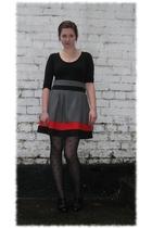 black Primark shirt - Primark skirt - black Miss Selfridge tights - black shoes