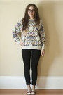 Black-skinny-wilfred-jeans-heather-gray-navajo-print-vintage-sweater-tawny-t