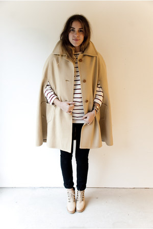 camel wool vintage cape - nude leather Rachel Comey boots - black wilfred jeans