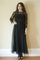 lace maxi vintage dress - leather vera wang heels