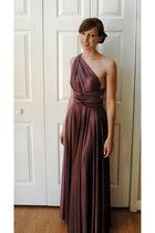 purple David Witchell dress