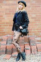black stud front Ebay boots - black Ebay hat