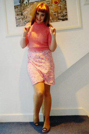 pink Missguided skirt - bubble gum fluffy Primark jumper