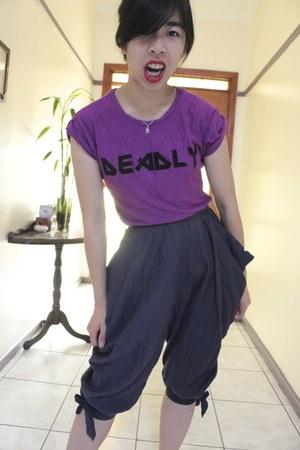 violet Shona Joy shirt - harem pants Shona Joy shorts