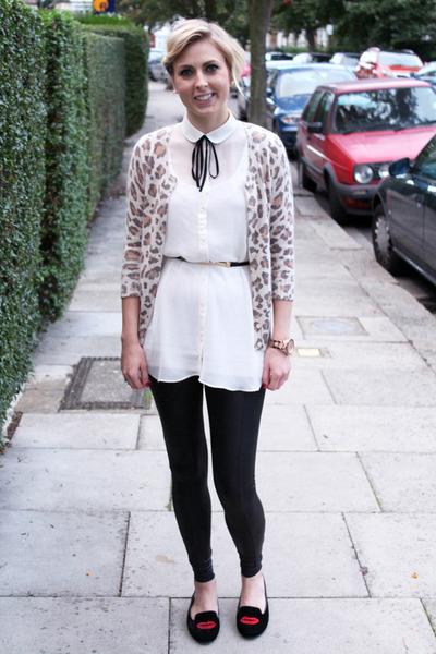 Topshop shirt - leopard print Topshop cardigan
