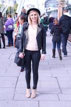 studded Zara boots - studded leather Zara jacket - Primark jumper