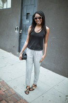 Club Monaco bag - Barton Perrerira sunglasses - Club Monaco pants