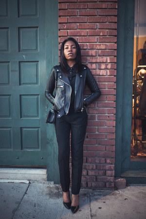 SWORD jacket - Chanel bag - Equipment blouse - Zara heels - Club Monaco pants