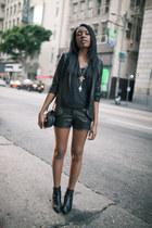 carol marie necklace - Saint Laurent boots - Sally Tseng blazer