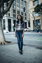 Dries Van Noten vest - Current Elliott jeans - Dries Van Noten blouse