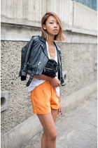 orange trouser silk Taobao shorts - black vintage jacket
