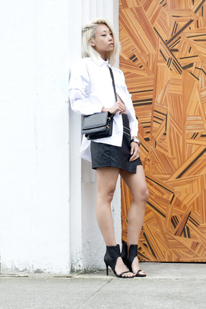 white Front Row Shop shirt - black Rachael Ruddick bag