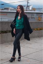 black Steve Madden shoes - black Zara sweater
