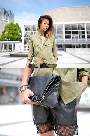 dark khaki Yesstyle shirt - romwe shorts
