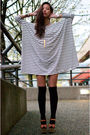 White-filthy-magic-dress-black-american-apparel-socks-beige-vintage-goodie-t