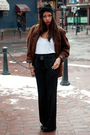 Brown-vintage-jacket-black-talula-babaton-pants-white-tna-top-black-diy-ac