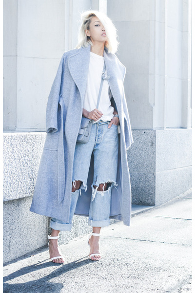 Light Blue H&M Wool Coat | Chictopia