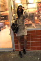 H&M dress - Marc Jacobs purse - sam edelman boots