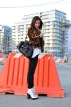 wilfred coat - American Apparel t-shirt - Emma Cook shoes - Cheap Monday jeans -