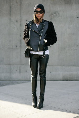black sam edelman boots - black Yesstyle jacket