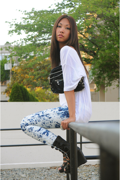 t-shirt - Zara jeans - Alexander Wang purse - Jeffrey Campbell shoes