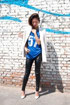 blue jersey sport romwe t-shirt - white Zara blazer