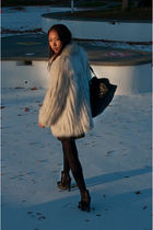 vintage coat - H&M dress - sam edelman boots - Marc Jacobs purse