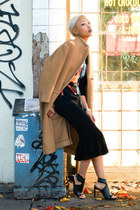 JNBY coat - Givenchy sweater - Opening Ceremony skirt - Senso heels