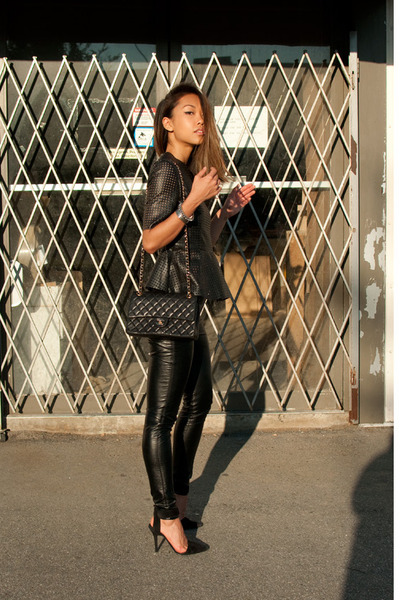 black Urban Outfitters pants - black Alexander Wang heels