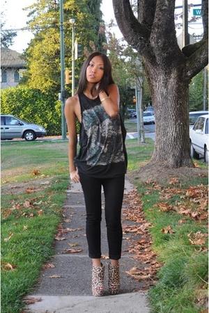 Zara t-shirt - J Brand jeans - Topshop shoes