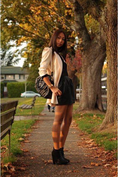 Zara blazer - Vintage Donna Karen top - Forever 21 skirt - Marc Jacobs purse - s