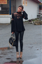 brown Ashish for Topshop shoes - black stam Marc Jacobs purse