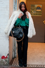 Black-talula-babaton-pants-green-vintage-blouse-white-vintage-coat-black-m