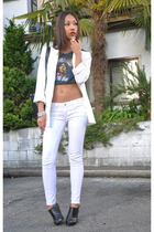 Zara blazer - BLANC jeans - vintage t-shirt - Zara shoes