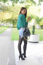 second-hand blouse - Levis shorts - Marc Jacobs purse - Zara shoes