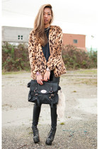 vintage t-shirt - Jeffrey Campbell boots - Yes Style coat - Yes Style bag