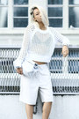 White-mesh-knit-rebecca-taylor-sweater-white-lunchy-clutch-mode-collective-bag