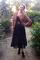 Zara jacket - vintage from etsy skirt - slip dress etam intimate