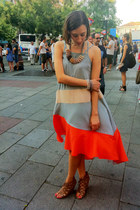 asos dress - BLANCO wedges