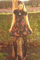 black Primark dress - black Zara shirt - Primark tights - Dione shoes - pimark a