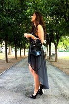 Zara heels - Vintage costume bag - Zara skirt - H&M top - Vintage costume watch