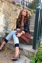Stradivarius jacket - pull&bear jeans - Stradivarius sweater - Zara heels