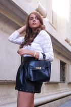 vintage bag - vintage cardigan - Stradivarius skirt - Bimba & Lola ring