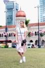 Black-ysl-purse-white-urban-behavior-t-shirt-light-pink-forever-21-skirt