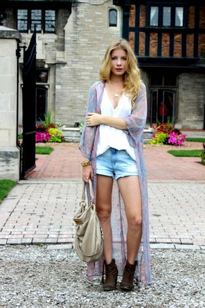 heather gray Aldo boots - light pink Missguided jacket