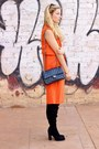 Black-sante-shoes-boots-black-chanel-purse-black-mango-skirt