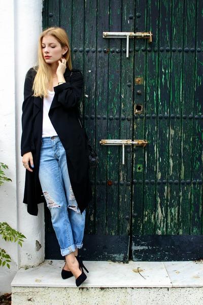 black Primark jacket - sky blue Levis jeans - black Chanel purse