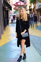 black Marypaz boots - black winners dress - black Primark jacket