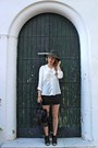 Black-primark-boots-olive-green-forever-21-hat-black-celine-purse